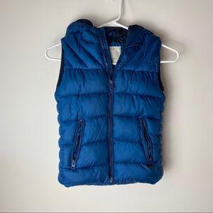 ZARA Boys Puffer Vest jacket navy blue SZ 9-10